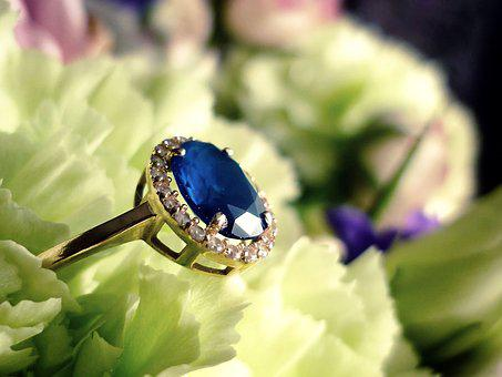 Ring, Engagement, Flowers, Love, Jewelry