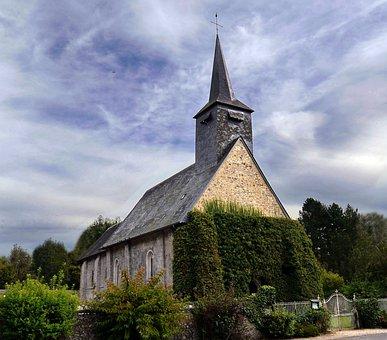 Church, Field, Bell Tower, Blue, Heritage, Light