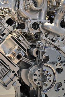 Modern Engine, Motor, Chopper, Car Engine, Piston