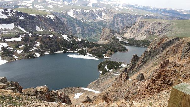 Mountain Lake, Scenery, Outdoors, Highlands, Mountain