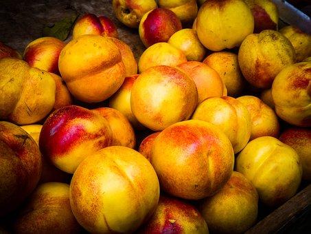 Fruit, Nectarine, Food, Ripe, Organic, Healthy, Fresh