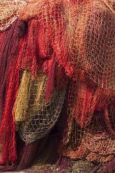 Fishing, Netting, Red