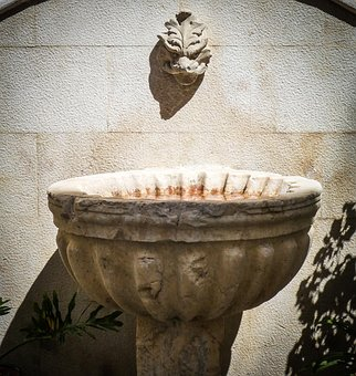 Fountain, Water, Drink, Cold, Summer, Outdoor, Stone