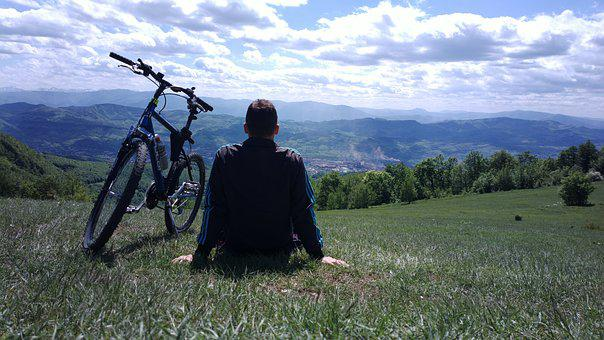 Bike, Bicycle, Boy, Cyclist, Panorama, Nature, Biking