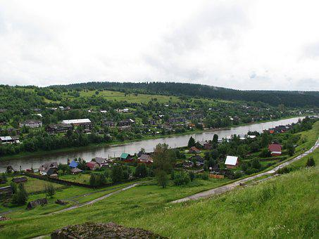 The Usva Village, River, Open Space, Height, Forest