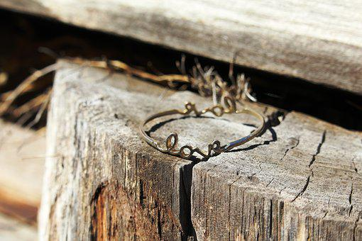 Love, Bracelet, Bangle, Wood, Bridge, Pier, Romantic