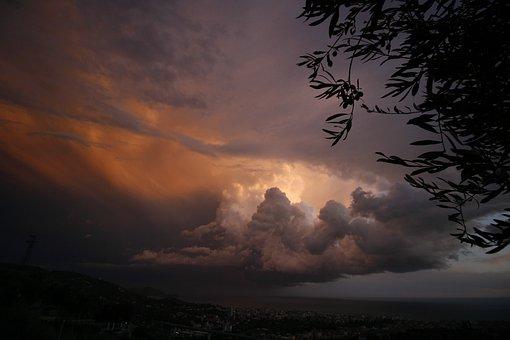 Bad Weather, Thunderstorm, Liguria, Weather, Sky, Time