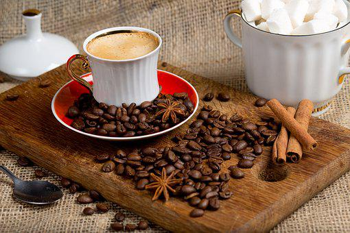 Coffee, Sugar, Coffee Beans, Cinnamon, Breakfast