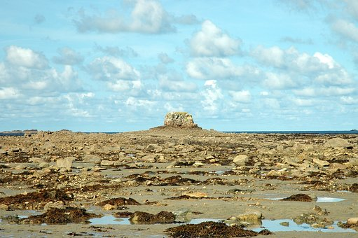 Brittany, Ebb, Tides, Rocky Coast, France, Rock, Sea
