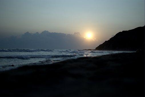 Sunset, Beach, Beach Sunset, Water, Summer, Vacation