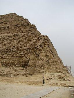 Ancient, Egypt, Stepped, Pyramid, Stone, Blocks