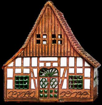 Model, House, Ceramic House, Home, Ceramic, Truss, Deco