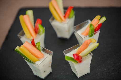 Cucumber, Carrot, Paprika, Healthy, Dip, Party