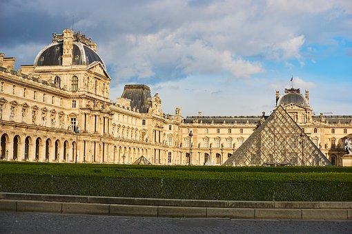 Louvre, Paris, Statue, Museum, France, Art, Pyramid