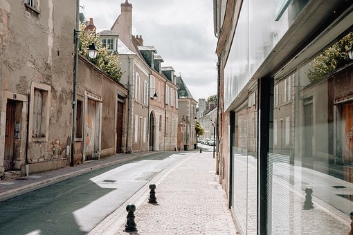 City, France, Pavement, Road, Europe, Building