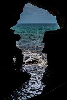 Cave, Sea, Hercules Grotto, Morocco, View, Tourism