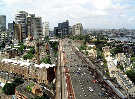 City, View, Highway, Cars, Hustle And Bustle, Highrise