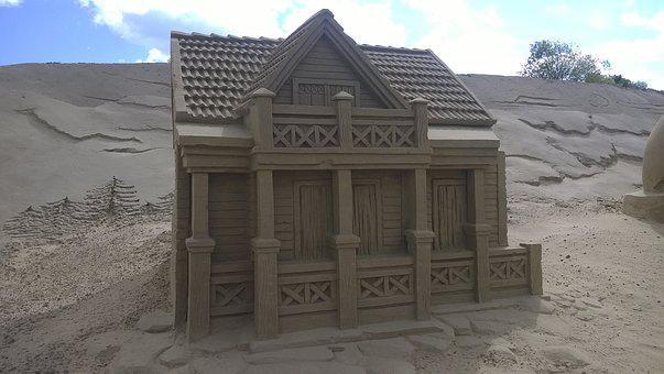 Sand, House, Cottage