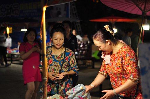 Stall Children, Minority, In Yunnan Province