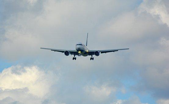 Landing, Land, Jet, Aircraft, Passenger Machine