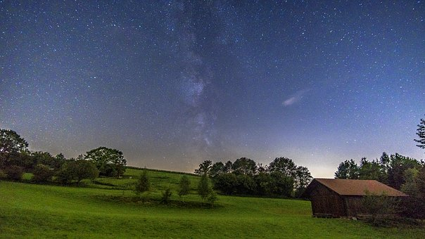 Milky Way, Starry Sky, Night Sky, Hut, Landscape, Star