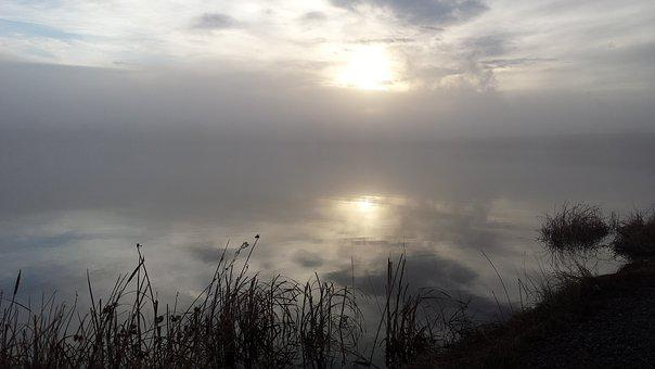 Lake, Fog, Water, Mist, Morning, Outdoor, Foggy