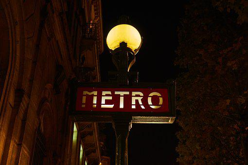 Paris, France, Metro, Street Lamp, Historical
