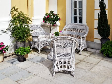 Wicker Furniture, Seating Area, Terrace, Manor