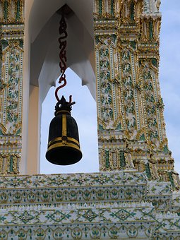 Bell, Old, Measure, Religion, Thailand Art, Buddhism