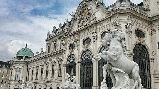 The Palace, Vienna, Monument, Sculpture, Tour, Austria