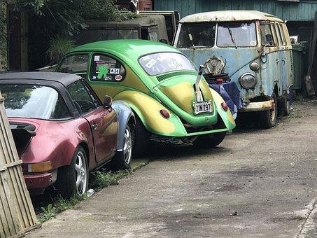 Autos, Turned Off, Oldtimer, Nostalgia, Scrap, Wreck