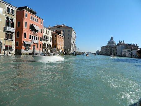 The Grand Canal Of Venice, Venice, Italia, Italy