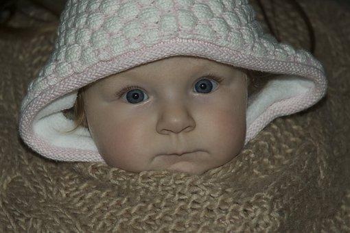 Baby, Girl, Cozy, Comfortable, Wool, Blanket, Warm