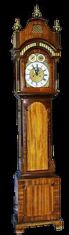 Grandfather Clock, Clock, Zimmeruhr, Antique