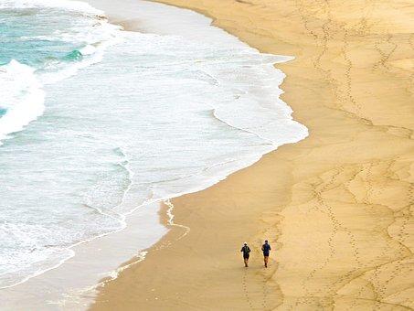 Beach, Sea, Jog, Sport, Freedom, Personal, Loneliness