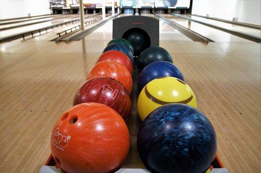 Bowling, Bowling Balls, Sport, Fun, Colored Balls