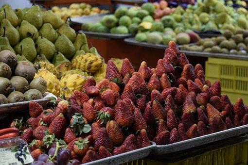 Strawberries, Fruit, Red, Food, Red Fruit