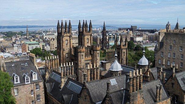 Castle, Edinburgh, Ghosts, Scotland, Landscape