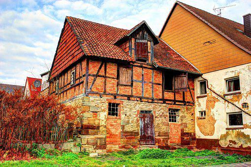 Home, Fachwerkhaus, Old House, Old, Truss, Ivy, Wood