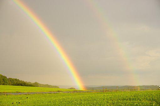 Rainbow, Double Rainbow, Natural Spectacle, Weather