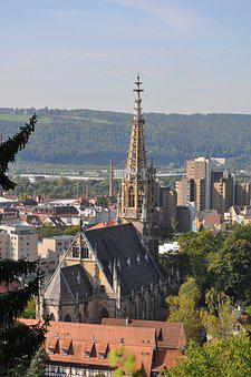 Esslingen, Neckar, Frauenkirche, Steeple, Neckar Valley