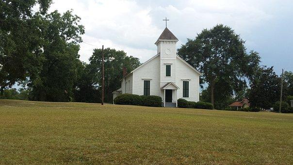 Church, Rural, South, Georgia, Architecture, Religion