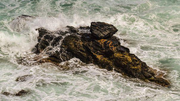 Rock, Sea, Waves, Erosion, Rough, Nature