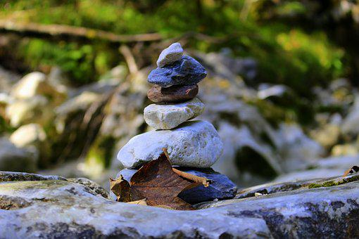 Nature, Stones, Meditation, Background, Of Course, Sky