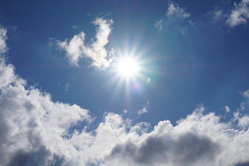 Sun, Rays, Sky, Clouds, Blue, Nature