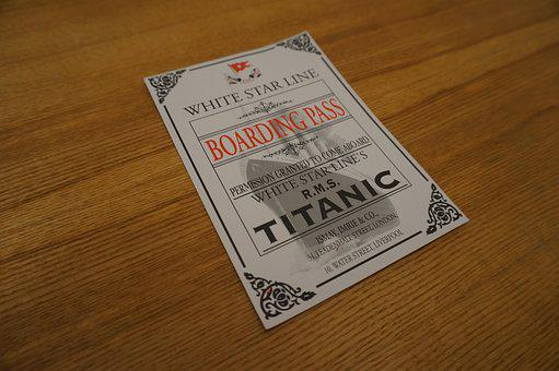 Titanic, Ship, Navigation, Ticket
