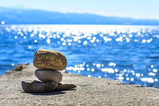 Cairn, Background, Water, Yoga, Mood, Stone, Landscape