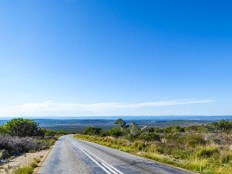 Road, Horizon, Road Trip, Wide, South Africa, Green