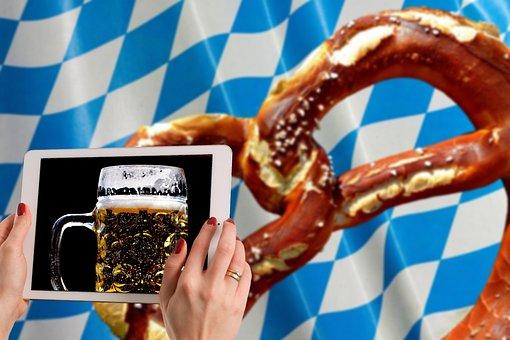 Oktoberfest, Beer, Pretzel, Bavaria, Munich