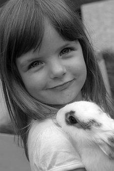 Child, Girl, Face, Children, Pretty, Small, Blond, Hare